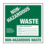 Custom Pin Fed HazMat Labels - Non-Hazardous Waste 6 x 6