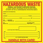 Exterior HazMat Decals - Hazardous Waste 6 x 6