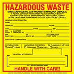Exterior HazMat Decals - Hazardous Waste California State Regulated 6 x 6