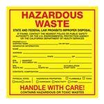Pin Fed HazMat Labels - California State Regulated 6 x 6