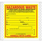 Custom Pin Fed HazMat Labels - Hazardous Waste New Jersey State Regulated 6 x 6