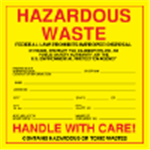 Custom Exterior HazMat Decals - Hazardous Waste 6 x 6