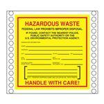 Pin Fed HazMat Labels - South Carolina State Regulated 6 x 6