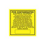 PCB Labels - PCB Contaminated Electrical Equipment 6 x 6