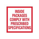 Inside Packages Comply With Prescribed Specifications - 4 x 4