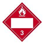 Class 3 - Flammable Liquid Blank - Tagboard 10 3/4 x 10 3/4