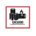 Lithium Battery Marking  - UN3090 - 4 1/2 x 5