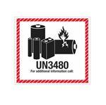 Lithium Battery Marking - UN3480 4 1/2 x 5