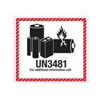 Lithium Battery Marking - UN3481 - 4 1/2 x 5