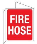 3D Fire Hose Wall Sign 8x14