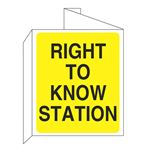 3D Right To Know Wall Sign 10 x14 inches