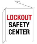 """3D"" Fire Equipment Wall Signs - Lockout Safety Center 8 x 14"