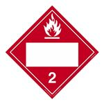 Class 2 - Flammable Gas Blank - Poly Blend 10 3/4 x 10 3/4