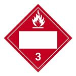 Class 3 - Flammable Liquid Blank - Poly Blend 10 3/4 x 10 3/4