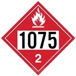 Flammable Gas 1075 - Polyblend (No Adhesive) 10 3/4 X 10 3/4