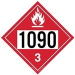 Flammable Liquid 1090 - Polyblend (No Adhesive) 10 3/4 X 10 3/4
