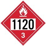Flammable Liquid 1120 - Polyblend (No Adhesive) 10 3/4 X 10 3/4