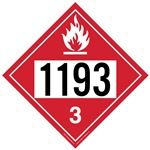 Flammable Liquid 1193 - Polyblend (No Adhesive) 10 3/4 X 10 3/4