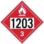 Flammable Liquid 1203 - Polyblend (No Adhesive) 10 3/4 X 10 3/4