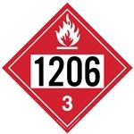 Flammable Liquid 1206 - Polyblend (No Adhesive) 10 3/4 X 10 3/4