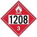 Flammable Liquid 1208 - Polyblend (No Adhesive) 10 3/4 X 10 3/4