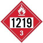 Flammable Liquid 1219 - Polyblend (No Adhesive) 10 3/4 X 10 3/4