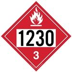 UN1987 - Flammable Liquid 1230 - Polyblend (No Adhesive) 10 3/4 X 10 3/4