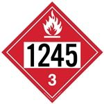 Flammable Liquid 1245 - Polyblend (No Adhesive) 10 3/4 X 10 3/4