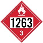 Flammable Liquid 1263 - Polyblend (No Adhesive) 10 3/4 X 10 3/4