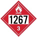 Flammable Liquid 1267 - Polyblend (No Adhesive) 10 3/4 X 10 3/4