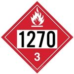 Flammable Liquid 1270 - Polyblend (No Adhesive) 10 3/4 x 10 3/4