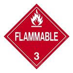 Class 3 - Flammable Liquid Worded Placard