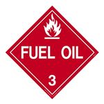 Class 3 - Fuel Oil Worded Placard