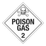 Class 2 - Poison Gas Worded Placard
