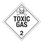 Class 2 - Toxic Gas Worded Placard
