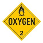 Class 2 - Oxygen Worded Placard