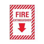 Fire Extinguisher - Vinyl Decal 10 x 14