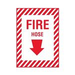 Fire Hose - Vinyl Decal 10 x 14