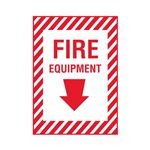 Fire Equipment - Vinyl Decal 10 x 14