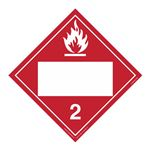 Class 2 - Flammable Gas Blank - Permanent Adhesive 10 3/4 x 10 3/4