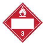 Class 3 - Flammable Liquid Blank - Permanent Adhesive 10 3/4 x 10 3/4
