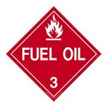Class 3 - Fuel Oil Worded - Permanent Adhesive 10 3/4 x 10 3/4