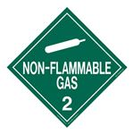 Class 2 - Non Flammable Gas Worded Placard