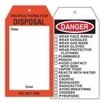 Chemical Instruction Tags - Instructions For Disposal Tag 4 x 7.5