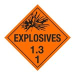 Class 1 - Explosives 1.3C Placard