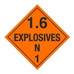 Placard Vinyl 1.6N Explosives