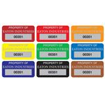 Custom Property Control Tags -Anodized Aluminum - 3/4 x 1-1/2