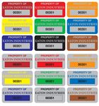 Custom Property Control Tags - Anodized Aluminum 3/4x1-1/2