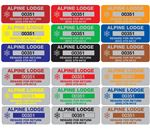 Custom Property Control Tags - Anodized Aluminum 3/4x2