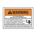Arc Flash Decals - Warning Arc Flash Hazard - pack/5 3.5 x 5